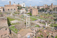 Roman Forum. The Roman Forum on a spring day. Photo taken April 2015 Royalty Free Stock Images