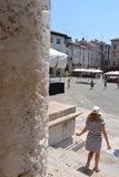 Roman Forum square in Pula - Croatia Royalty Free Stock Photography