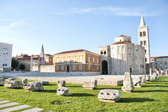 Roman forum and St. Donatus Royalty Free Stock Image