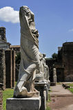 Roman Forum Statues Stock Image