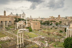 The Roman Forum on a Stormy Summer's Day Stock Photo
