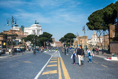 Roman forum street Royalty Free Stock Photo