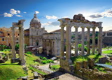 Roman Forum in summer Stock Images