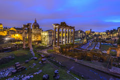 Roman Forum at Sunrise Stock Images