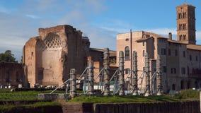 Roman forum. Temple of Venus and Roma. Rome Italy stock video footage