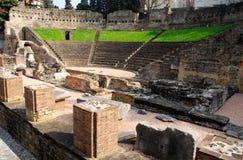 Roman forum with the theater in Trieste, Friuli Venezia Giulia (Italy) Stock Photos