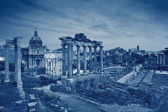 Roman Forum. Toned image of ruins of Roman Forum in Rome, Italy Stock Images