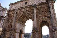 Roman Forum. The Triumphal Arch of Emperor Septimius Severus - Roman forum, Rome, italy Stock Images