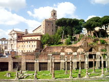 Roman Forum. It is a view of the roman forum stock photo