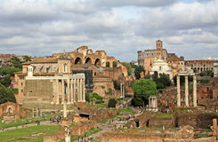 Roman Forum view Royalty Free Stock Photography
