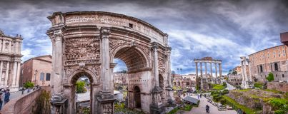 Free Roman Forum, View From Capitolium Hill In Rom Royalty Free Stock Photos - 144953438