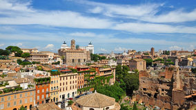 Roman forum, view of the Temple of Romulus  from the Palatine Hi Stock Photos