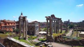 Roman Forum view stock video footage