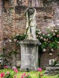 Roman Forum - virgens de Vestal imagem de stock