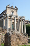 Roman forum - vroege christelijke kerk Royalty-vrije Stock Fotografie
