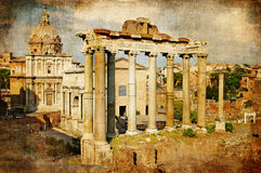 Roman Forums Stock Photo