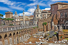 Roman forums stock photo