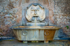 Roman fountain Stock Photo