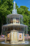 Roman fountain closeup of a Sunny day in July. Peterhof Royalty Free Stock Photos