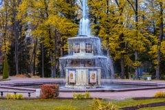 Roman fountain in Lower Gardens of Peterhof Stock Image