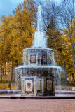 Roman fountain in Lower Gardens of Peterhof Royalty Free Stock Images