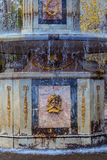 Roman fountain in Lower Gardens of Peterhof Royalty Free Stock Photo