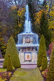 Roman fountain in Lower Gardens of Peterhof Stock Images