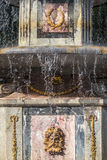 Roman fountain ornament in Peterhof. Roman fountain ornament in The Eastern Part of The Lower Park in the Peterhof State Museum Preserve Stock Photography
