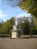 Roman fountain in the park of Peterhof. Stock Photography