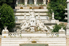 Roman fountain in Rome, Italy Stock Images