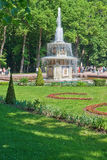 Roman fountains in Peterhof Stock Image