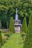 Roman Fountains, Peterhof, Rusland Stock Foto's