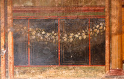 Roman Fresco antiguo Imagen de archivo