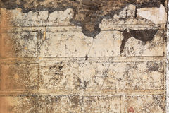 Roman Fresco - Pompeii. A marble-like roman fresco in Pompeii,  an ancient Roman town-city near modern Naples in the Italian region of Campania which was mostly Royalty Free Stock Photo