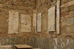 Roman frescoes on the walls Royalty Free Stock Photo