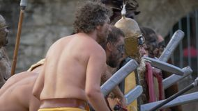 Roman Gallic War video d archivio