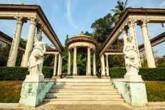 Roman Garden på den Phayathai slotten Arkivbilder
