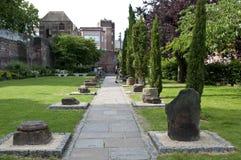 Roman Gardens, Chester, Cheshire, R-U photographie stock