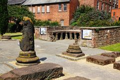 Roman gardens, Chester. Royalty Free Stock Images