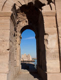 Through the Roman Gate Stock Photography
