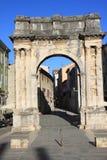 Roman Gate d'or dans le Pula, Croatie Photo libre de droits