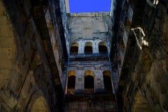 Roman Gate Porta Nigra est le meilleur bâtiment romain préservé au nord des Alpes Photographie stock libre de droits