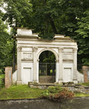 Roman gate in Pulawy. Poland Stock Photo