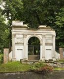 Roman gate in Pulawy. Poland.  Stock Photo