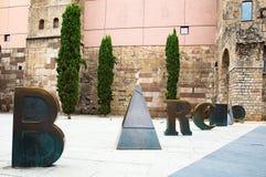 Roman Gate y Placa Nova Fotografía de archivo libre de regalías