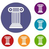 Roman geplaatste kolompictogrammen Royalty-vrije Stock Foto