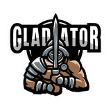 Roman gladiator. Logo emblem symbol Vector illustration Stock Images