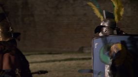 Roman Gladiator Mirmillo Versus Hoplomacus lager videofilmer