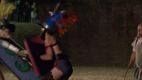 Roman Gladiator Mirmillo Versus Thraex lager videofilmer