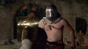 Roman Gladiator Secutor Versus Retiarius lager videofilmer